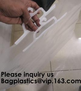 Quality HANGER HOOK BAGS,GARMENT BOTTON CLOSURE BAGS, EVA FROST DRAWSTRING BAGS, VINYL HANGER HOOK BAG for sale