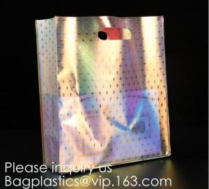 Quality HOLOGRAPHIC NEON TOTE PVC BAG,VINYL SHOPPING SHOPPER,TOILETRY BIKINI SWIMWEAR BEACHWEAR WOMAN BAG for sale