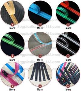 Quality RUBBER ZIPPER, PLASTIC SLIDER, EASY TEAR ZIPPER, PRESS LOC ZIPPER, FLANGE ZIPPER, VACUUM ZIPPER, YKK for sale