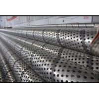 Welded Seam Perforated Stainless Tube , Round Hole Perforated Filter Tube