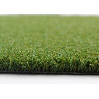 Quality Mini Bicolor Synthetic Golf Artificial Turf , 15 mm High Density Artificial Grass for sale