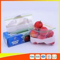 Quality LDPE Transparent Resealable Press Zip Snack Ziplock Bags Air Proof For Packaging for sale