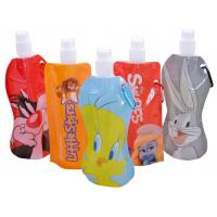 480ml Portable Soft Cartoon Flexible Foldable Drinking Water Bottle with