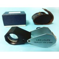 Glass 10x Magnification Jewellers Loupe With White Led Light
