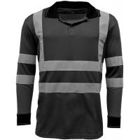Quality Reflective Strips Mens Hi Viz T Shirts Workwear , Dry Fit 2 Tone Guys Polo Shirts for sale