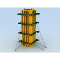 China Adjustable Concrete Column Formwork for square or rectangle with vertical waling etc on sale