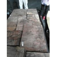Quality Sliced Natural Walnut Burl Wood Veneer Sheet for sale