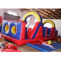 Quality Outdoor Children Sport Bouncy Castle Obstacle Course Security - Guarantee for sale