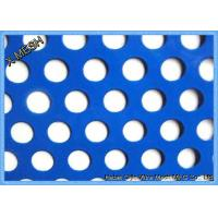 Quality Round Hole Perforated Metal Mesh , PVC Coated Perforated Aluminum Sheet Metal for sale