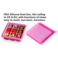 Buy cheap Wholesale Custom Silicone Ice Cube Tray with Lid, Personalized Ice Cream Tray from wholesalers