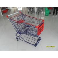 China Big 150L Wire Mesh Grocery Store Shopping Carts With Escalator Whee on sale