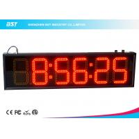 Quality 6 Inch Red Digital Led Clock Display Support 12 / 24 Hour Format Switch for sale