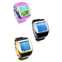 Quality HOT ! Watch phone quadband FM with camera bluetooth touch screen for sale