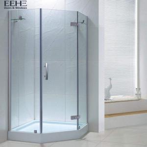 Quality Sandy Silver Bathroom Shower Cubicles / Walk In Bathroom Shower Cabin for sale