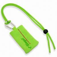 Quality Handy Mobile Phone Sock Lanyard with Printed Logo, Polyester Blank Rope and Mobile Handy Sock for sale