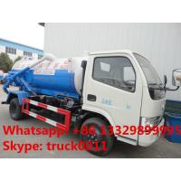 Buy high quality and competitive price 3000 liters vacuum tank truck,sewage suction truck at wholesale prices