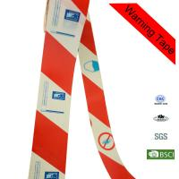 Quality Printed Danger Warning PE Red and White Custom Barricade Tape for Traffic for sale