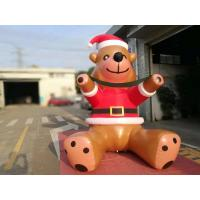 Quality Customized PVC Printing Inflatable Christmas Decorations Bear Catoon For Commercial Show for sale