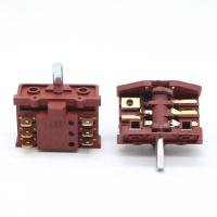 Quality Knob 6 Pins 2 Position Oven Rotary Switch For Stove 250V 16A Brass Terminal for sale
