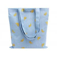 Quality Banana Printed 12 Oz Natural Custom Canvas Bags Reusable Ideal for Groceries , Shopping for sale