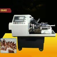 Quality Safe Hydraunic Lathe Turning Machine , Automatic Pipe Shrink Mouth Machine For Brass Ball Valve for sale