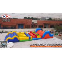 China Kids Giant Outdoor Inflatable Obstacle Courses Waterproof 0.6mm PVC on sale