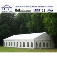 Family Camping Commercial Party Tent , Clear Roof Wedding Tent With Large Aluminium Frame for sale