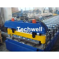 Quality Hydraulic cutting Metal Roofing Cold Roll Forming Machine 13 - 22 Stations TW27-195-780 for sale