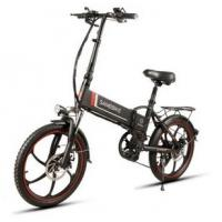 Quality WWW.YOLCART.COM Samebike XW-20LY 350W Smart Folding Electric Bike 35km/h Max. Speed 48V 10AH E-Bike - Black for sale