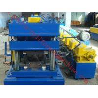 Quality 2 Waves W Type Highway Guardrail Roll Forming Machine Export Macedonia Greece Metal Cold Rolling Forming for sale