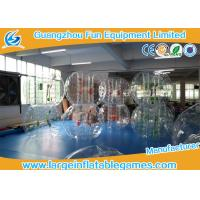 Quality Transparent 1.5m Inflatable Hamster Footall Zorb Rolling Ball With Various Color Strings, Straps and Handles for sale