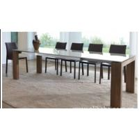 Quality modern Mdf and tempered glass extendable table DT159 for sale