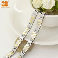 Quality China supplier bracelet titanium magnetic jewelry gold plated,energy bracelet,fashion bracelet for sale