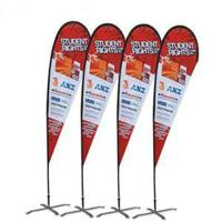 Quality Custom printing Feather Flag Banners for exhibition and promotion for sale