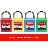Quality 25mm Short Steel Master Key Safety Lockout Tagout with English PVC Luminous Tag for sale