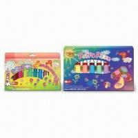 Puffy Paint Window Box Pack with 3D-effect, Soap and Water, Nontoxic, Easy to Clean