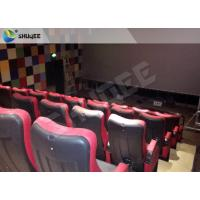 Quality Red 4D Movie Theater Simulator System Equipment With Motion Chair 3 / 4 / 5 Seats A Platform for sale