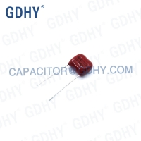 Quality Metallized Polyester Film 104J400V 0.1uF CL21 Capacitor for sale