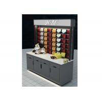 Quality Grey Mobile Wall Mounted Display Cabinets Two Ways Floor Standing For Showroom for sale