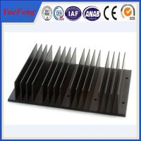 Quality Black anodizing extrusion aluminum heat sinks profiles with cnc drilling processing for sale