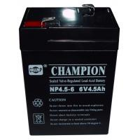 Quality Champion 6V4.5AH AGM battery 6V UPS battery Lead Acid battery for sale