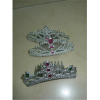 China Crystal Children Kids King Queen Princess Tiara Crown Hair Band Headband for Party Favor Gift on sale