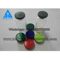 Quality 10ml Custom Vial Labels Clear Glass Vials Glass Bottles With Blue Cap And Stopper for sale