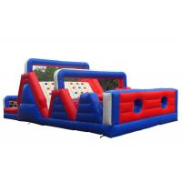 Quality Outdoor Kids Obstacle Bounce House , Adrenaline Rush Cross Bouncy Obstacle Course for sale