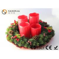 Quality Red Color Decorative Led Candles With Remote Control D8.5X12/14/16/18cm for sale