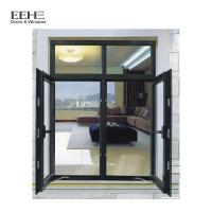 Quality Double Glazing Glass Aluminum Casement Windows For Commercial Office Building for sale