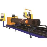 Quality Round Steel Pipe Processing Machines 3 Axis Flame / Plasma Cutting Method for sale