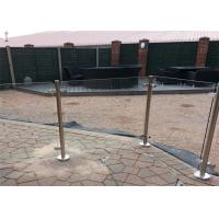 Quality Railing post handrail support flange base glass clamps balcony balustrades garden decoration deck swimming pool for sale
