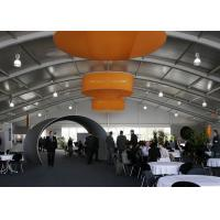 China 500 People Clear Tents For Weddings With Transparent PVC Roof Steel Frame Structure for sale