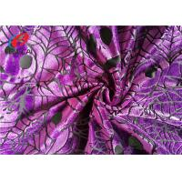 Quality Pumpkin Printed Burnout Velvet Polyester Spandex Fabric For Christmas Dress for sale